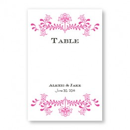 Delicate Touch Table Cards