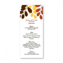Passionate Leaves Menu Cards