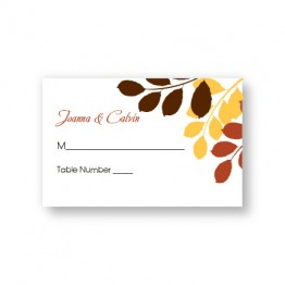 Passionate Leaves Seating Cards