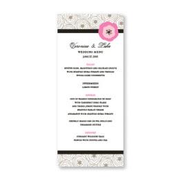 Floral Focus Menu Cards