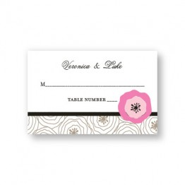 Floral Focus Seating Cards