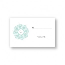 Initial Perfection Seating Cards