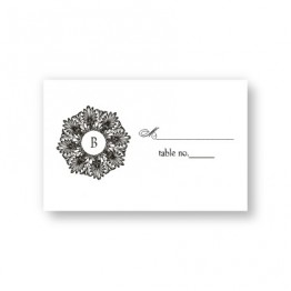 Alluring Initial Seating Cards
