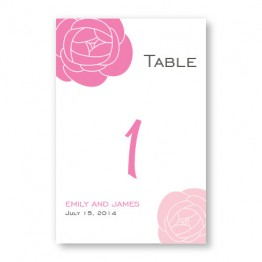 Fresh Blooms Table Cards