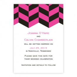 Stylish Statement Save The Date Cards