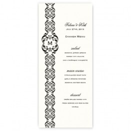 Lacey Menu Cards