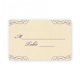 Reese Thermography Seating Cards
