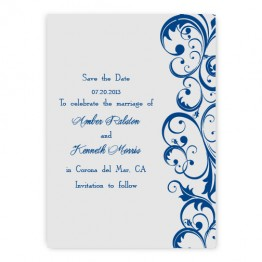 Amber Save the Date Cards