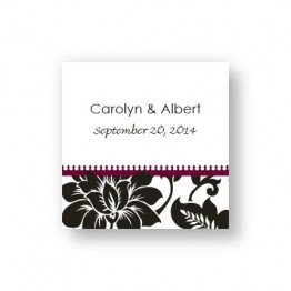 Passionate Blooms Favor Tags