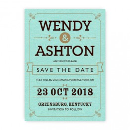 Aurora Thermography Save the Date Cards