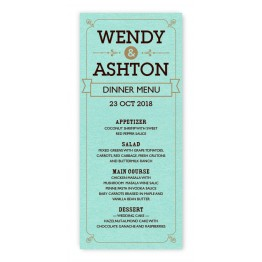 Aurora Thermography Menu Cards