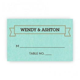 Aurora Thermography Seating Cards