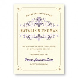 Helena Thermography Save the Date Cards