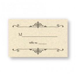 Mara Thermography Seating Cards