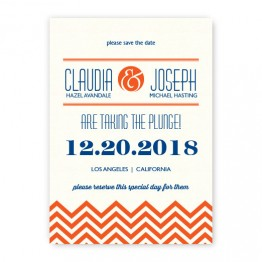 Frances Thermography Save the Date Cards