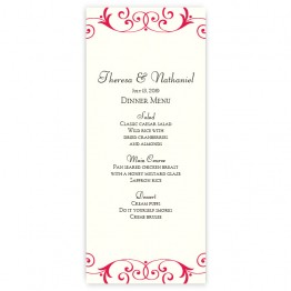Gabriella Menu Cards