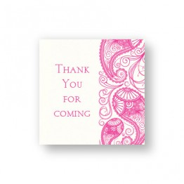 Paisley Garden Thermography Favor Tags