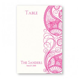 Paisley Garden Thermography Table Cards