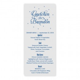 Macy Thermography Menu Cards