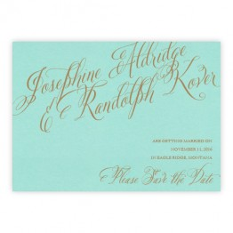 Cora Thermography Save the Date Cards
