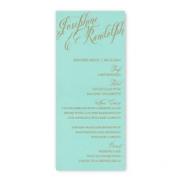 Cora Thermography Menu Cards