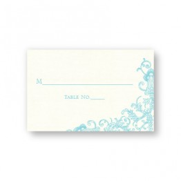 Circled With Love Thermography Seating Cards