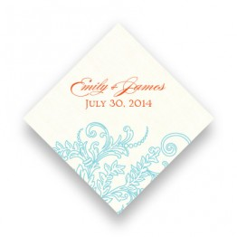 Circled With Love Thermography Favor Tags