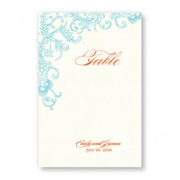 Circled With Love Thermography Table Cards