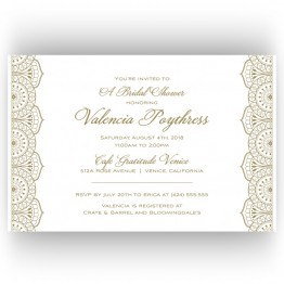 Moroccan Bridal Shower Invitations