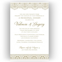 Moroccan Rehearsal Dinner Invitations