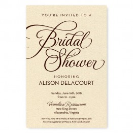 Sweet Script Bridal Shower Invitations