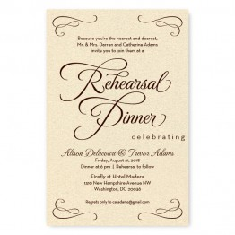 Sweet Script Rehearsal Dinner Invitations