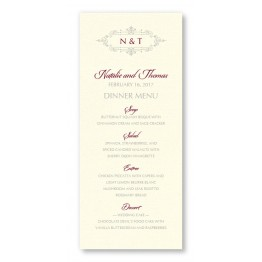 Belle Menu Cards