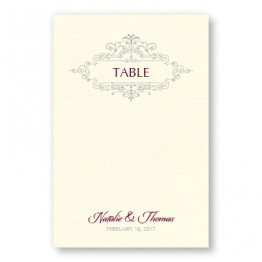 Belle Table Cards