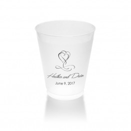 Fanciful Hearts Clear or Frosted Plastic Tumblers