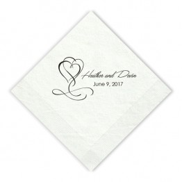 Flourished Hearts Beverage Napkins