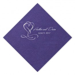 Flourished Hearts Luncheon Napkins