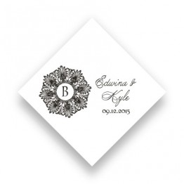 Alluring Initial Favor Tags
