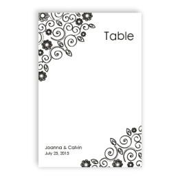 Flirty Flowers Table Cards