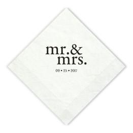 Mr. & Mrs. Beverage Napkins