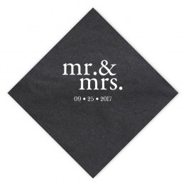 Mr. & Mrs. Luncheon Napkins