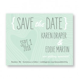 Branch & Woodgrain Save The Date Cards