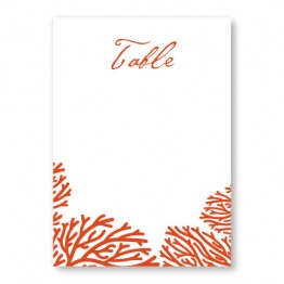 Coral Table Cards