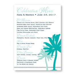 Palm Menu Cards
