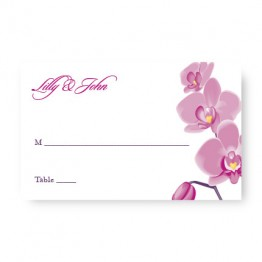 Tropical Orchid Seating Cards