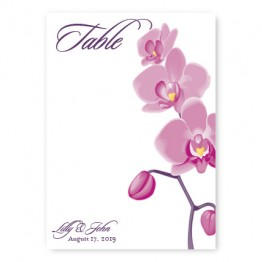 Tropical Orchid Table Cards