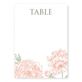Peony Table Cards