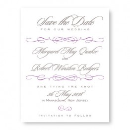 Romance Save The Date Cards