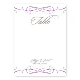 Romance Table Cards
