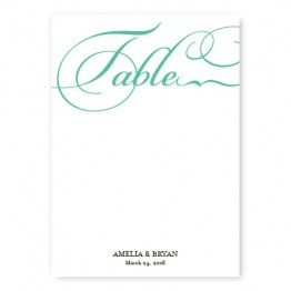 Bella Table Cards